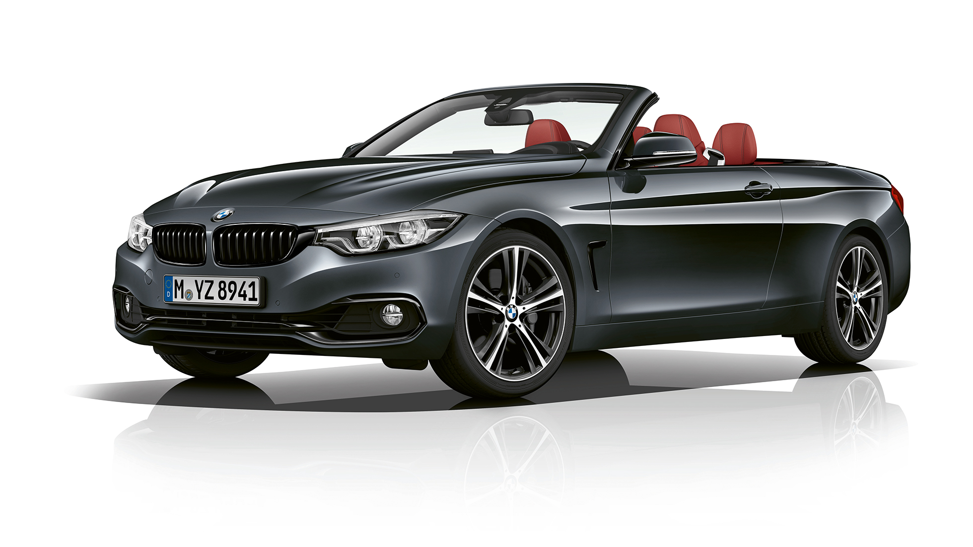 BMW 4 Series Convertible, Model Sport Line three-quarter front shot