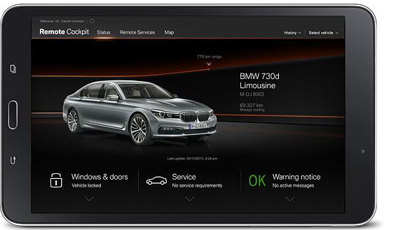 bmw 7 series sedan : services & apps